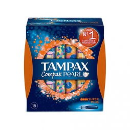 Tampax Compak Pearl Super Plus 18