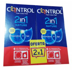 Control 2in1 Nature 2X1 6+6 Preservativos + Gel