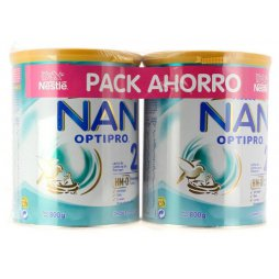 Nestle Nan 2 Optipro Pack 2x800gr 2ªud 25%