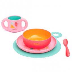 Vajilla Infantil rosa +6M Suavinex