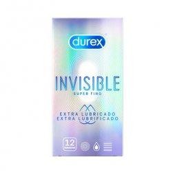 Durex Invisible Extra Lubricado 12ud