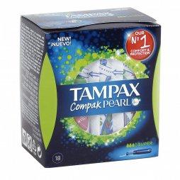 Tampax Compak Pearl Super 18