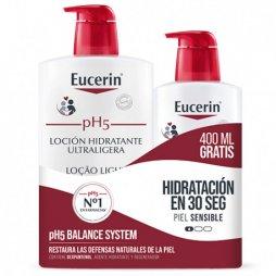 Eucerin Loción Ultraligera Piel sensible y seca 1L+400ml