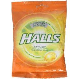 Halls Bolsa Sin Azúcar Citrus 100gr